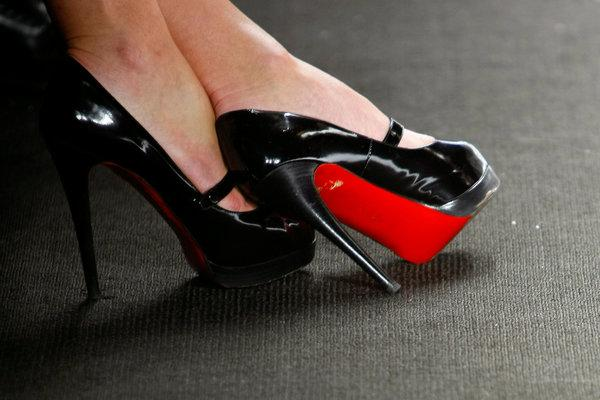 red-soled shoes
